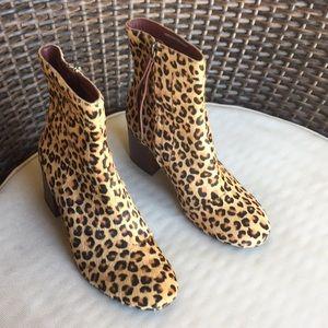Toms leopard booties